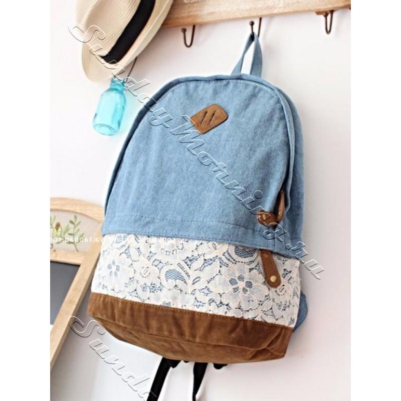 Женский рюкзак с кружевом рюкзак алеут 110