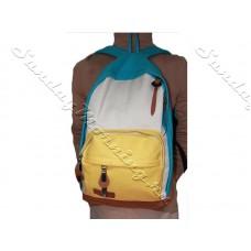 Яркий рюкзак повседневный Yellow Blue