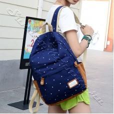 Синий рюкзак в горошек Arizona